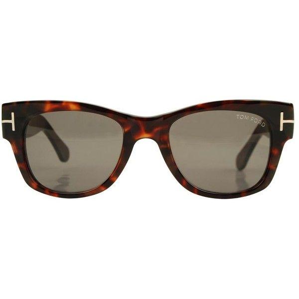 TOM FORD Tortoise shell wayfarer sunglasses ($225) ❤ liked on Polyvore