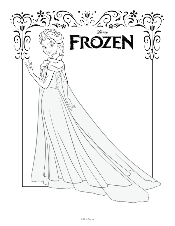 Frozen Free Coloring Pages Momjunction : Free frozen coloring pages party ️ pinterest
