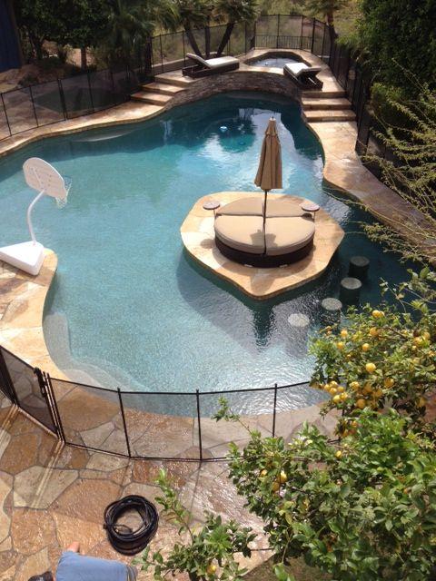 Pool Fence | Pool fence, Backyard pool designs, Small pool ...