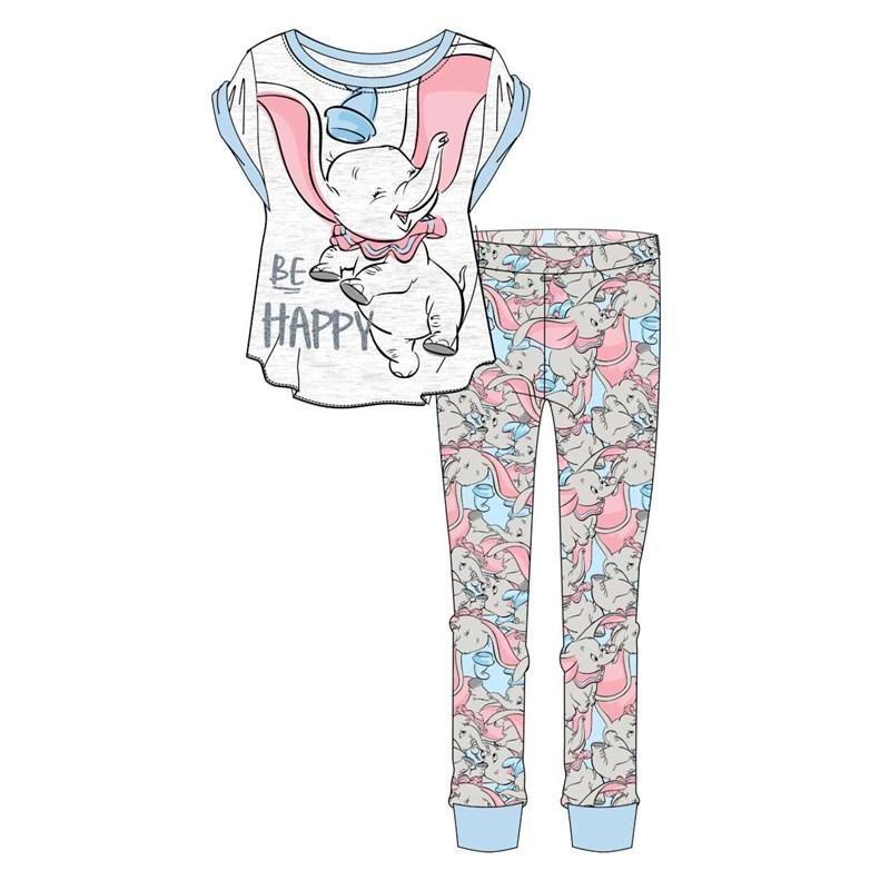 Ladies Women Disney Pyjama Set DUMBO Be Happy