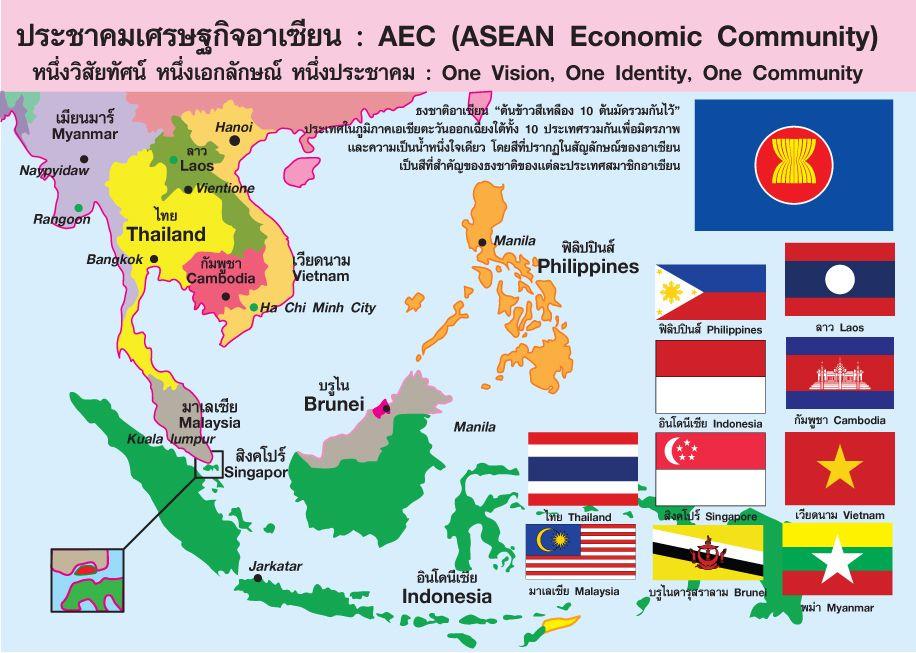 ท มาของอาเซ ยน Aec Asean Economic Community ส งคมศ กษา ร ปภาพ การศ กษา