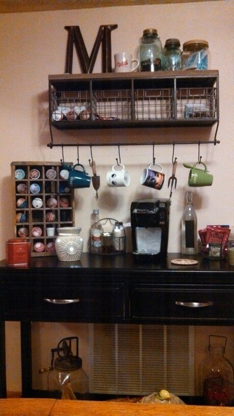 Styling a Chic & Functional Office Coffee Bar | Waiting on ...