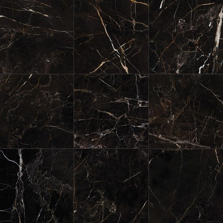 Port Laurent Black Marble Effect Porcelain Rf Tiles In 2020 Black And Gold Marble Black Marble Tile Polish Stoneware