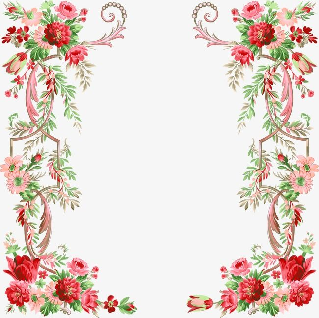 Floral Border Design Graphic Design Flowers Frame Png