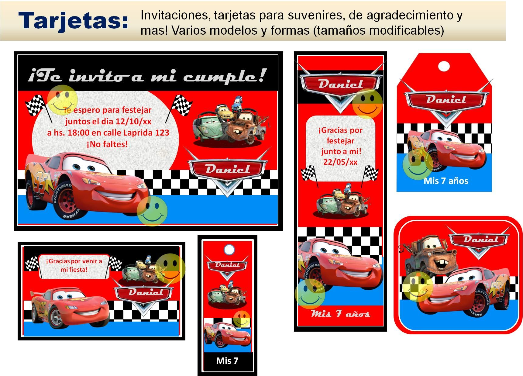 Invitaciones De Cumpleaños De Cars Para Protector De