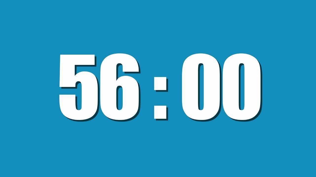 56 Minute Timer | Countdown Timer | 25 minute timer, 15 minute timer