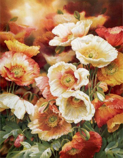 Poppies Darryl Trott Watercolor Flowers Flower Painting Watercolor Poppies