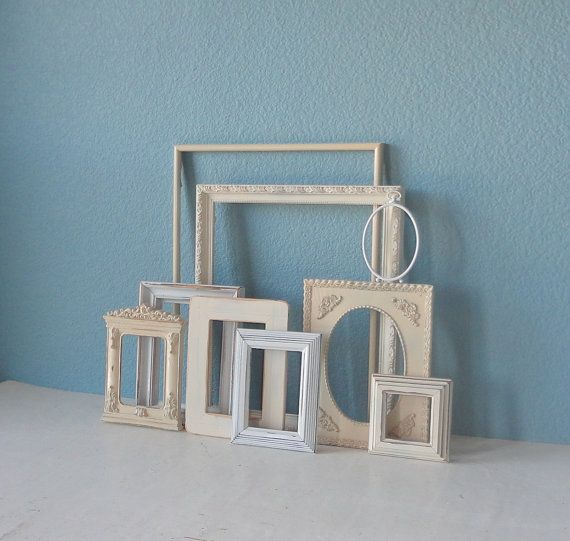 Shabby Chic Picture Frames  All Dressed in White by TheArtofChic, $98.00