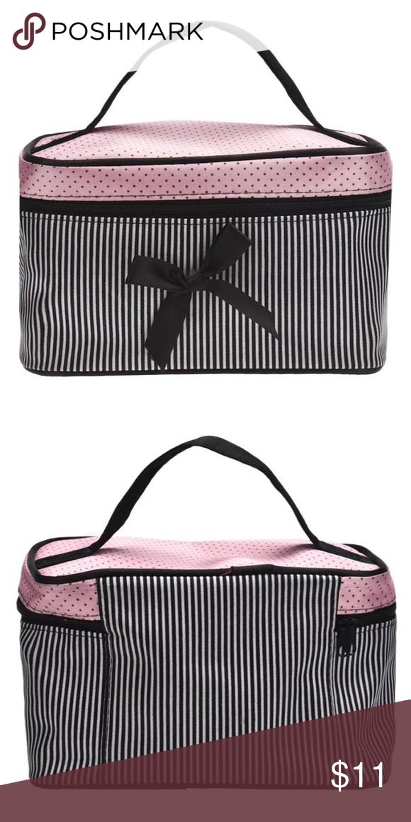 Bowknot Cosmetic Bag Pink/Black Bowknot Cosmetic Bag Bags Cosmetic Bags & Cases