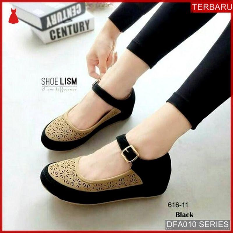 Dfa010m35 Ms9 Sandal Wedges Wanita Ibhe Dewasa 1349 Kulit Sepatu Sepatu Wanita Sepatu Hak Tinggi