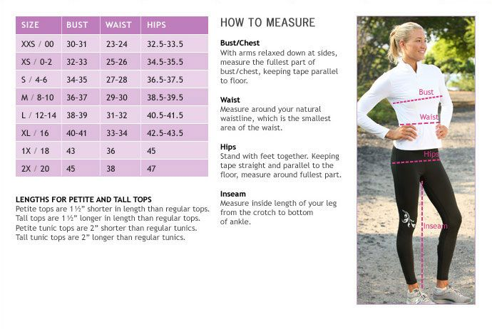 athleta size chart. need some fit advice? call 877.328.4538 ...
