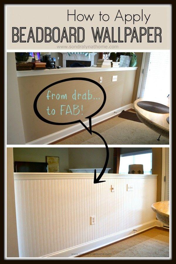 How to Apply Beadboard Wallpaper | Roble, Elementos y Papel tapiz
