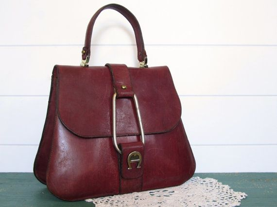3616fa77377f RARE Vintage Etienne Aigner Leather Purse Handbag by Kamiann