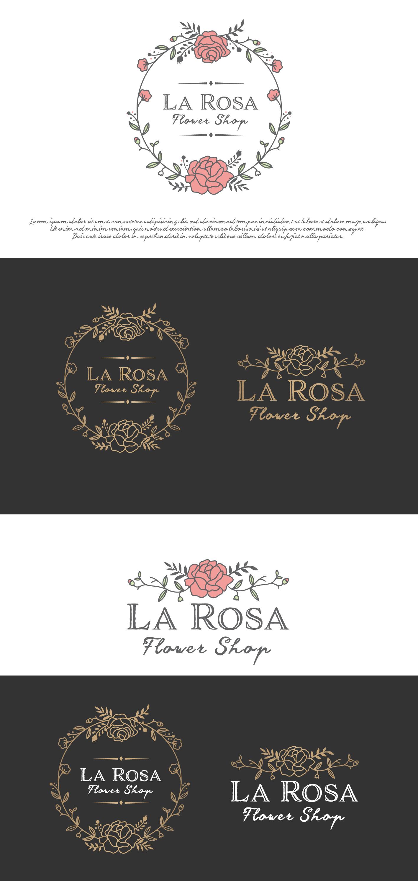 """LA ROSA Design a """"romantic"""" and """"luxury"""" logo for """"La"""