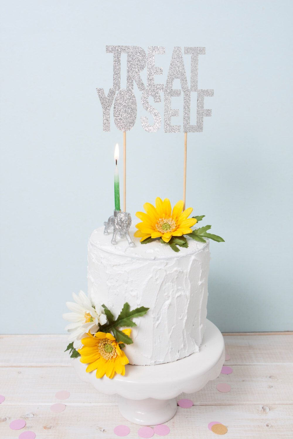 Treat Yo Self Cake Topper Parks and Rec Cake Topper Funny Birthday