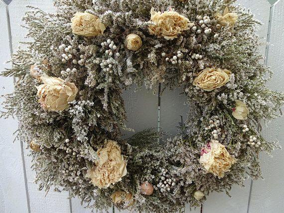Photo of Peony Wreath Home Decor Dried Wreath Natural Wreath Elegant Wreath …