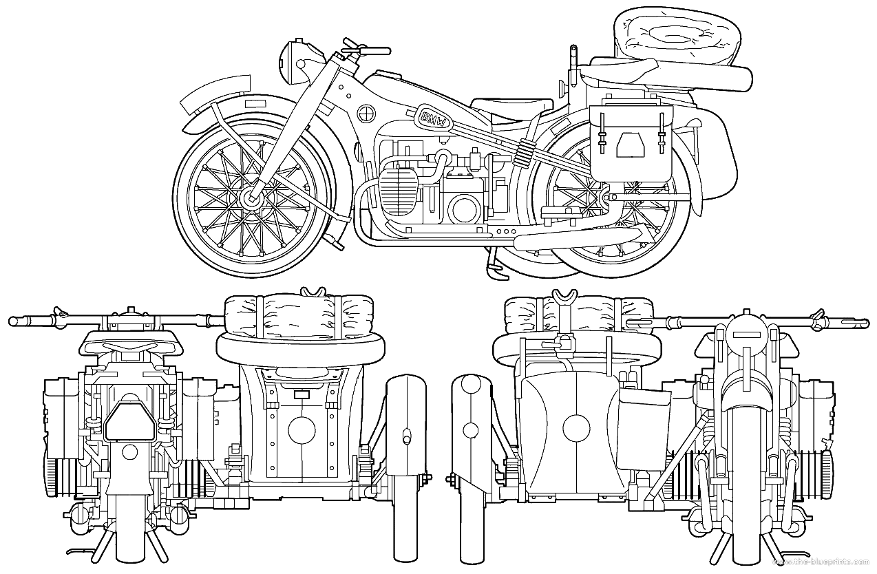 Bmw R12 1939 Blueprint Motorcycle Engine Bmw