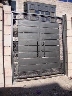 iron gate with perforated metal Google Search Gates Iron