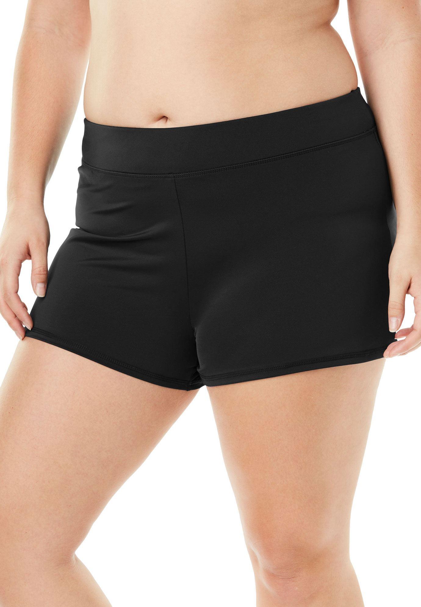 Womens Plus Size Swim Shorts