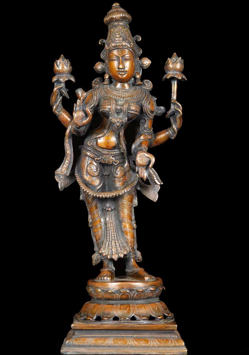 View the brass hindu goddess lakshmi statue 19 lakshmi pinterest goddesses deities and - God and goddess statues ...