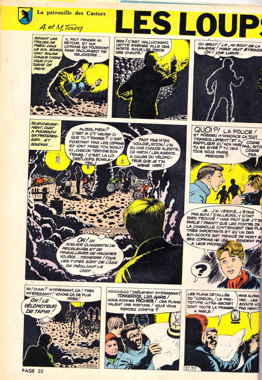 La Patrouille Des Castors Les Loups Ecarlates Mitacq Spirou N 1294 Du 31 Janvier 1963 Michel Tacq Jean Michel Charlier Spirou Patrouille Loup