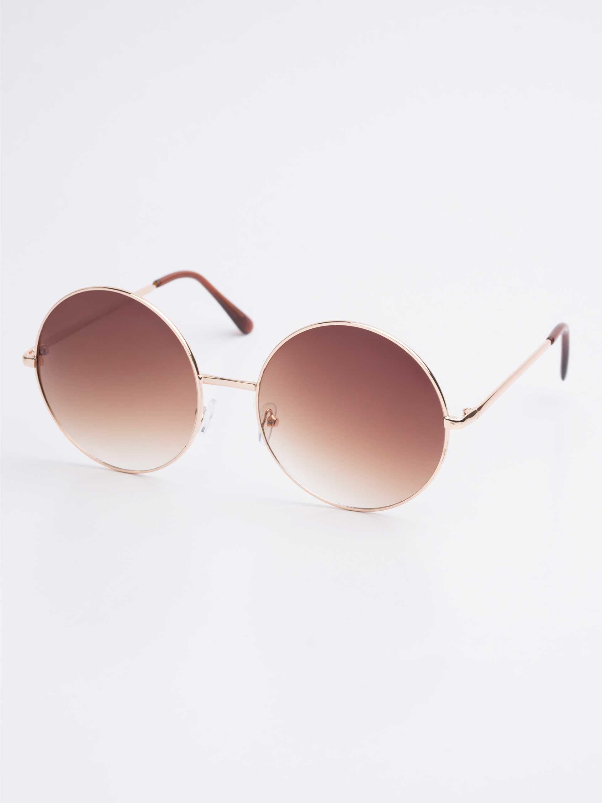 ab55e6746 Óculos de Sol Redondo Descolado Modelo Janis | Lentes de sol ...