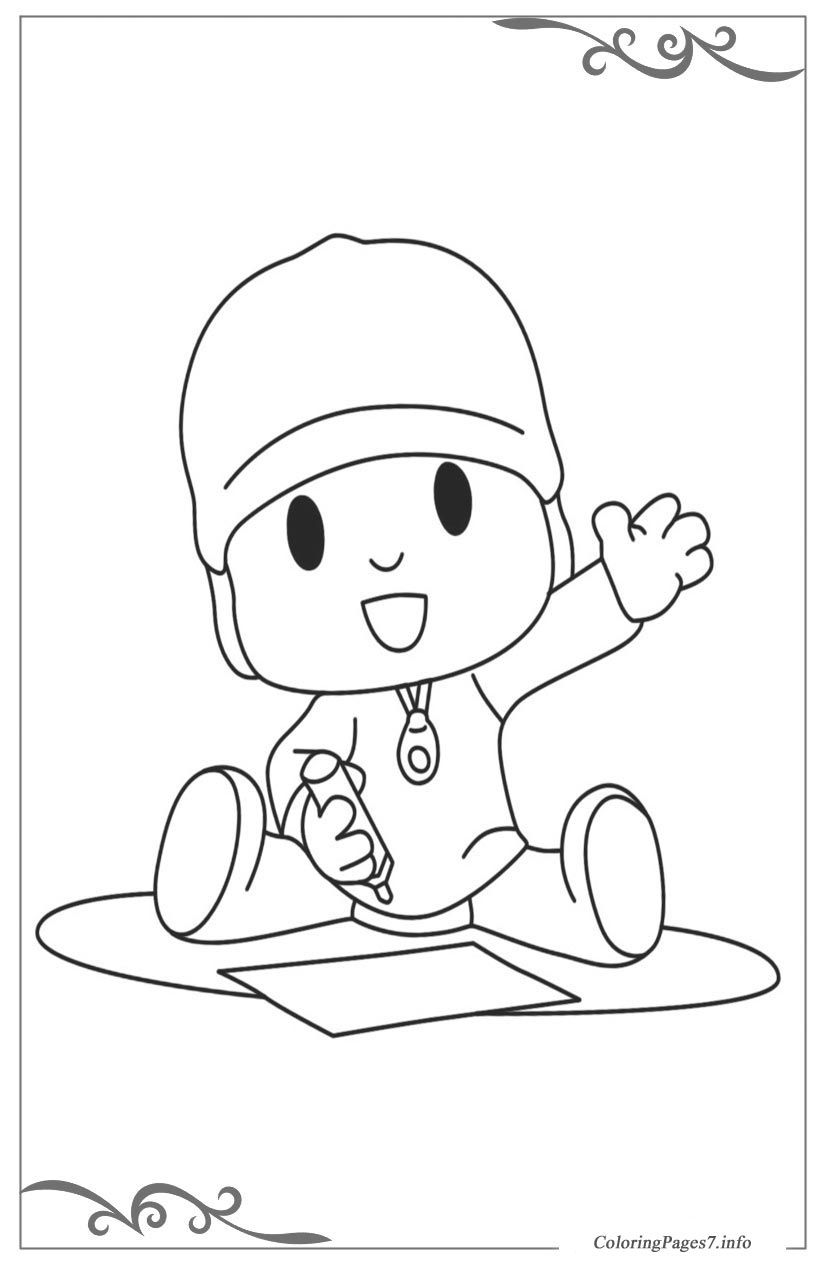 Pocoyo Free Coloring Page Template Printing Coloring Pages Free Coloring Pages Color