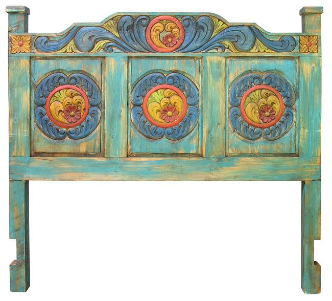 Carved Painted Wood Headboard Queen And King Painted Wood Headboard Painted Bedroom Furniture Bedroom Furniture Makeover