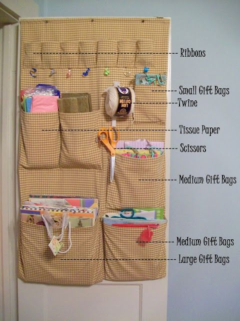 Diy Gift Bag Organizer For Inside The Closet Door Not A Pattern And Not Even Really A