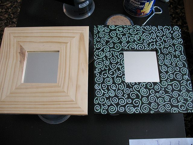 Espejos malma de Ikea reconvertidos. | proyectos de manualidades ...