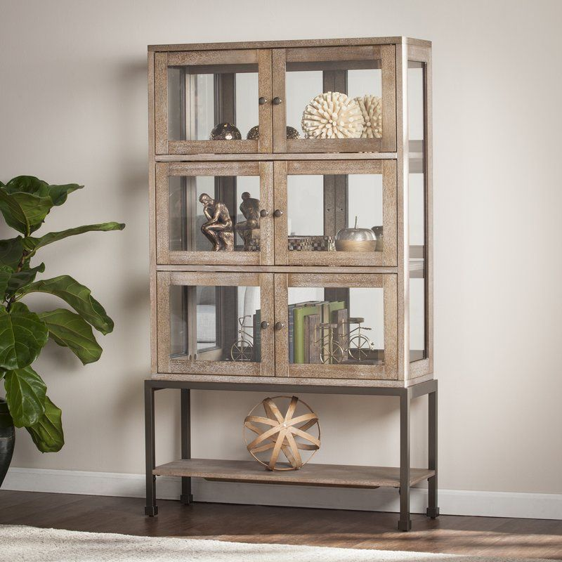 Pantin Lighted Curio Cabinet Living Room Glass Cabinet