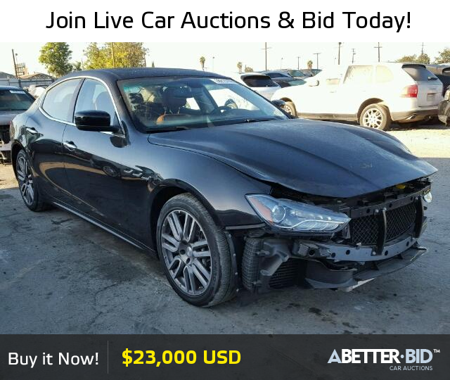 Salvage 2015 MASERATI ALL MODELS For Sale