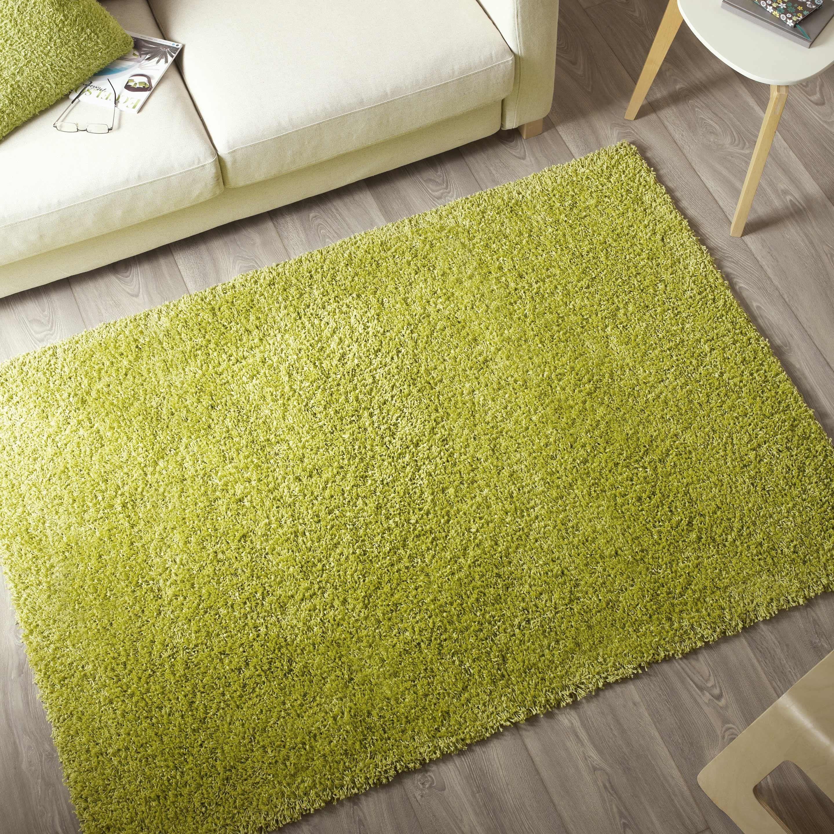 Meuble De Cuisine Vert Anis tapis vert anis shaggy pop, l.120 x l.170 cm en 2020   tapis