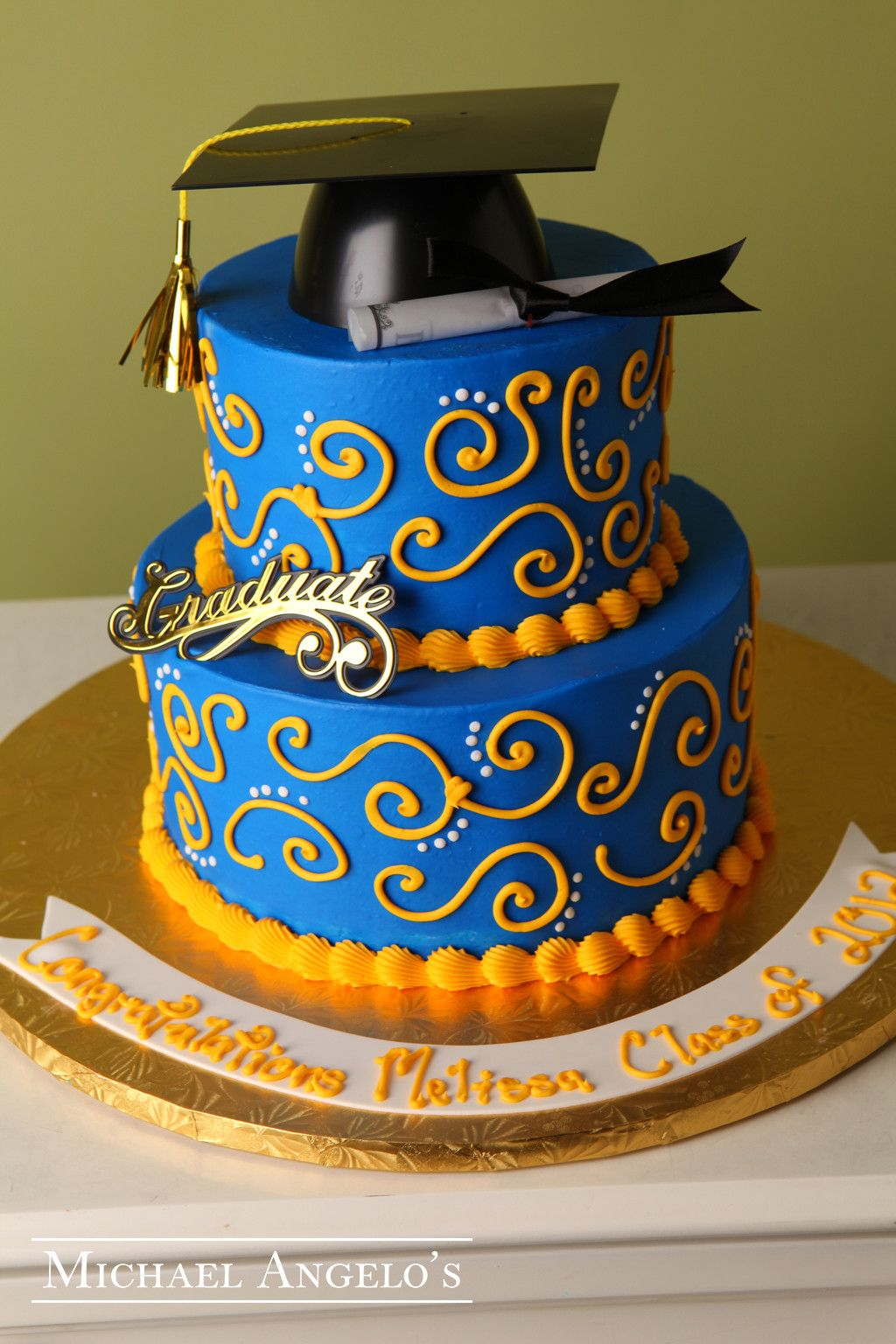 graduation cap cake gold graduate 24graduation school colors cap and cake 4592