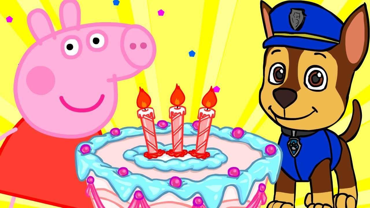 Cumpleaños Feliz Peppa Pig Patrulla Canina Minions Paw Patrol Bob Esponja Feliz Cumpleaños Niña Felicitaciones De Cumpleaños Infantiles Feliz Cumpleaños