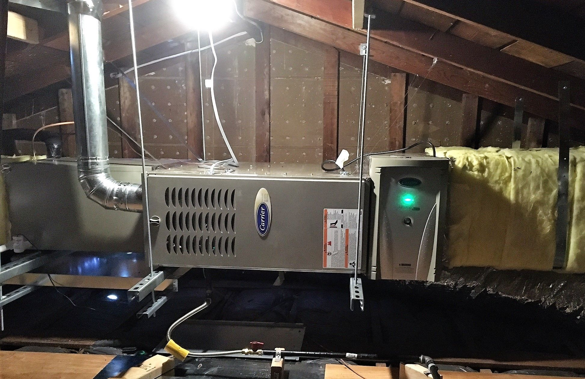Horizontal installation of this Carrier Furnace. Furnace