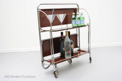Mid Century Folding Tea Trolley Table Bar Cart Sideboard Shelves Retro Vintage Sideboard Shelf Vintage Bar Retro Room