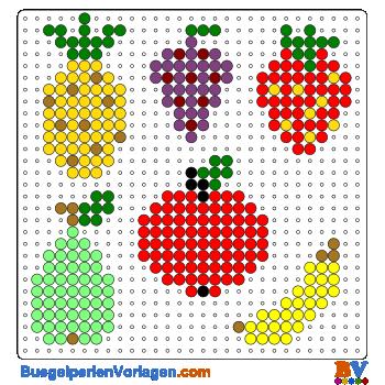 Fruchte Bugelperlen Vorlage Auf Buegelperlenvorlagen Com Kannst Du