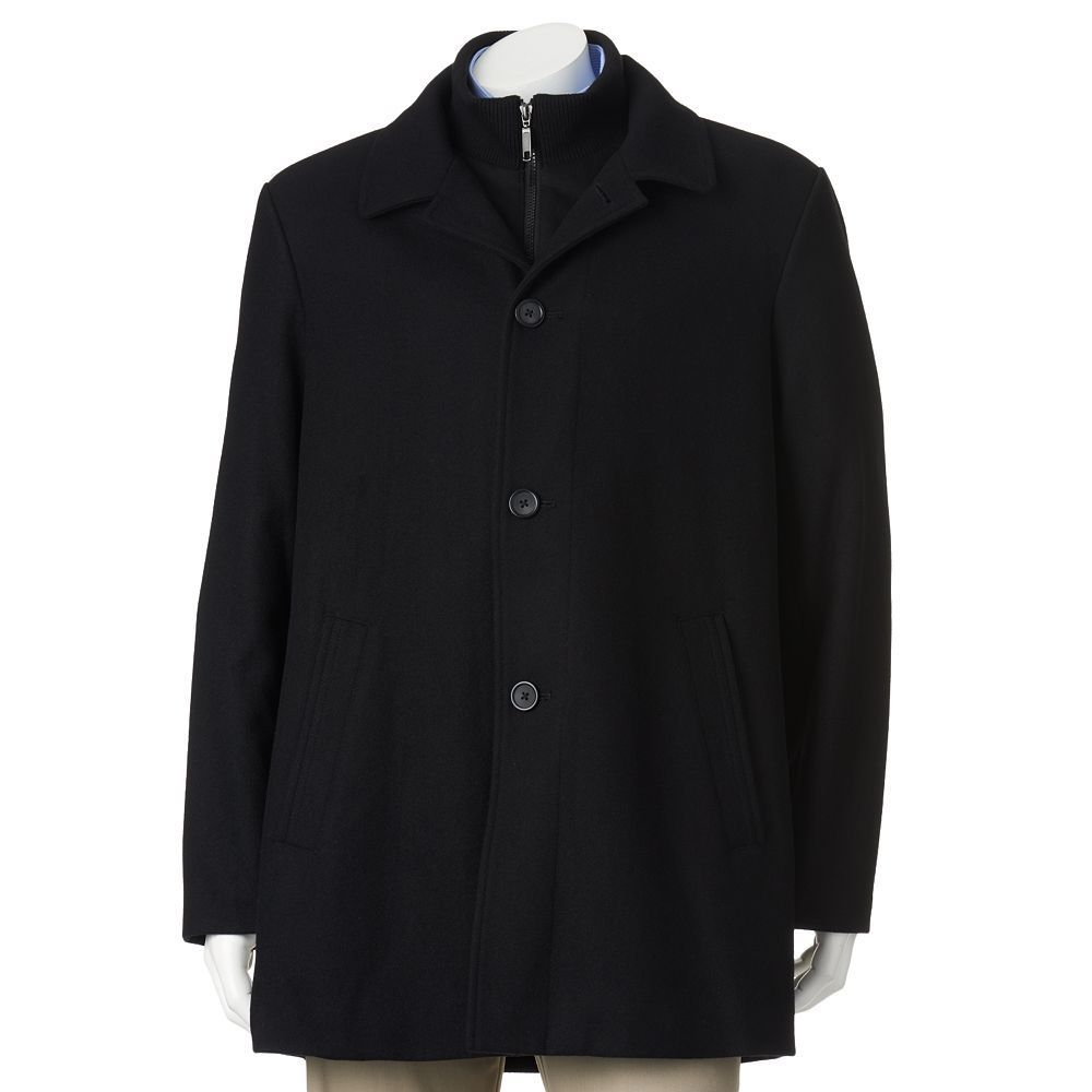 Men's Billy London Slim-Fit 34-in. Wool-Blend Car Coat, Size: 48 ...
