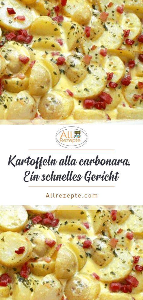Kartoffeln alla carbonara, Ein schnelles Gericht