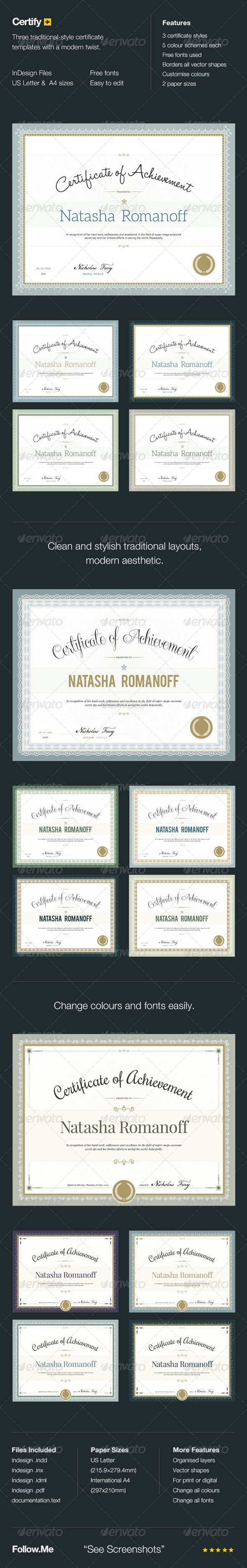 Certify - Award Certificates | Certificate, Certificate design and ...