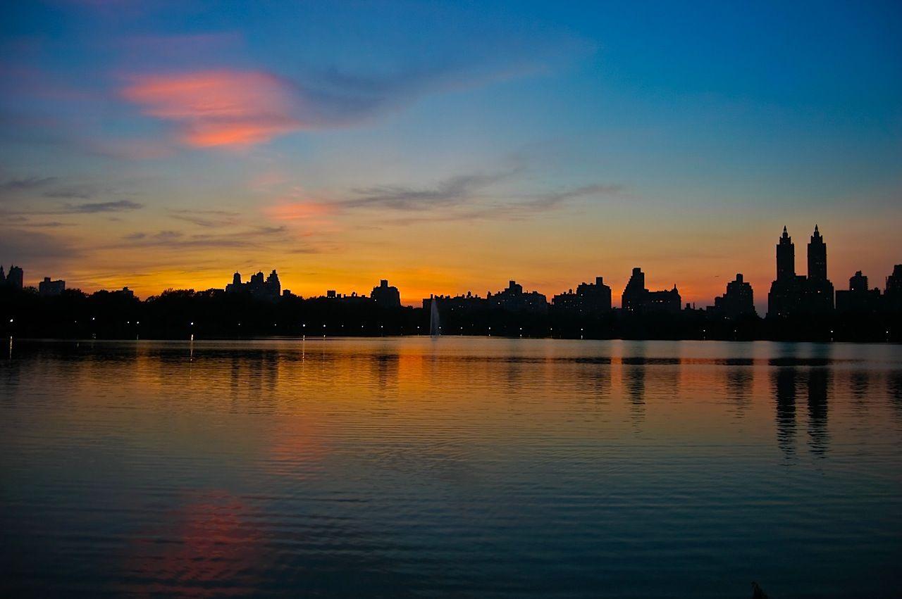 Anochecer en Central Park