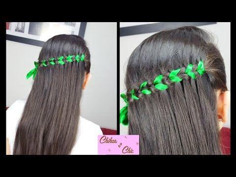 Scissor Waterfall Braid Ribbon Braided Hairstyles Cute Girly
