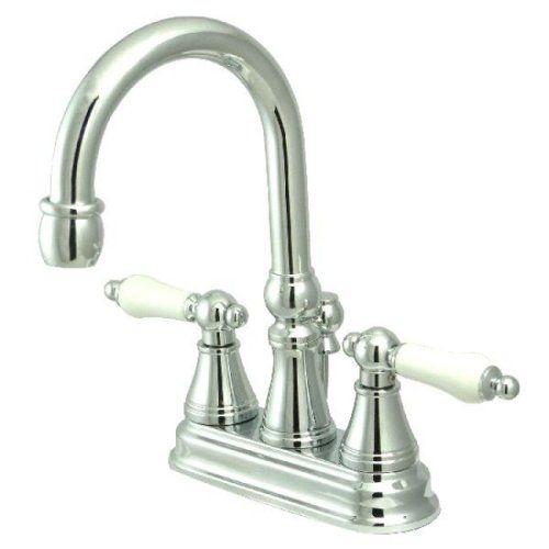 Bathroom Faucets Diy Kingston Brass Ks2611pl Governor 4inch Centerset Lavatory Faucet With Brass Popup And Porcelain Lever Lavatory Faucet Faucets Diy Faucet