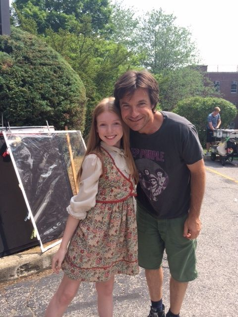 Mackenzie Brooke Smith and Jason Bateman on the set of The Family Fang
