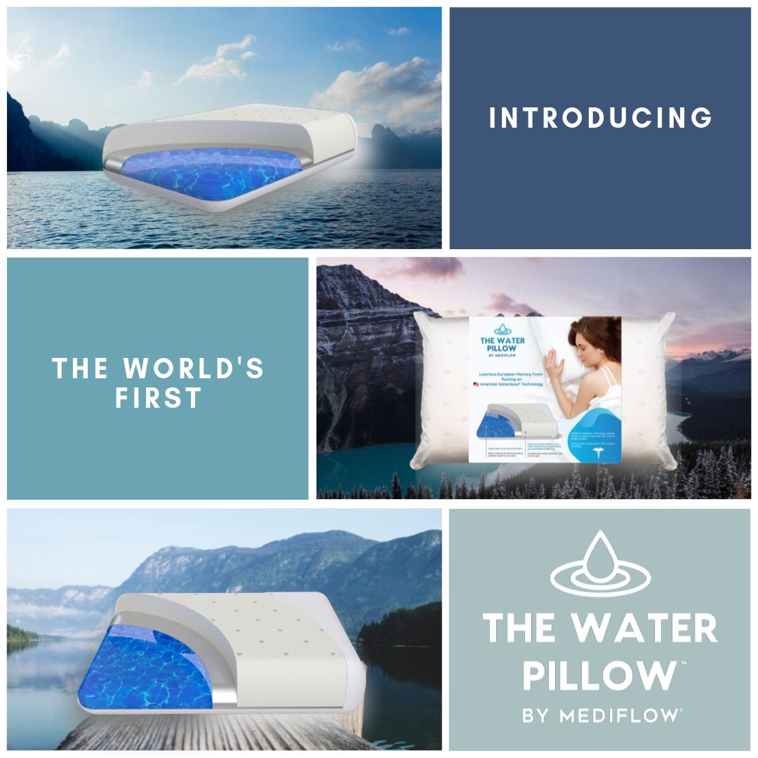 The Water Pillow By Mediflow Memory Foam Water Pillow Memory Foam Pillow Foam Pillows