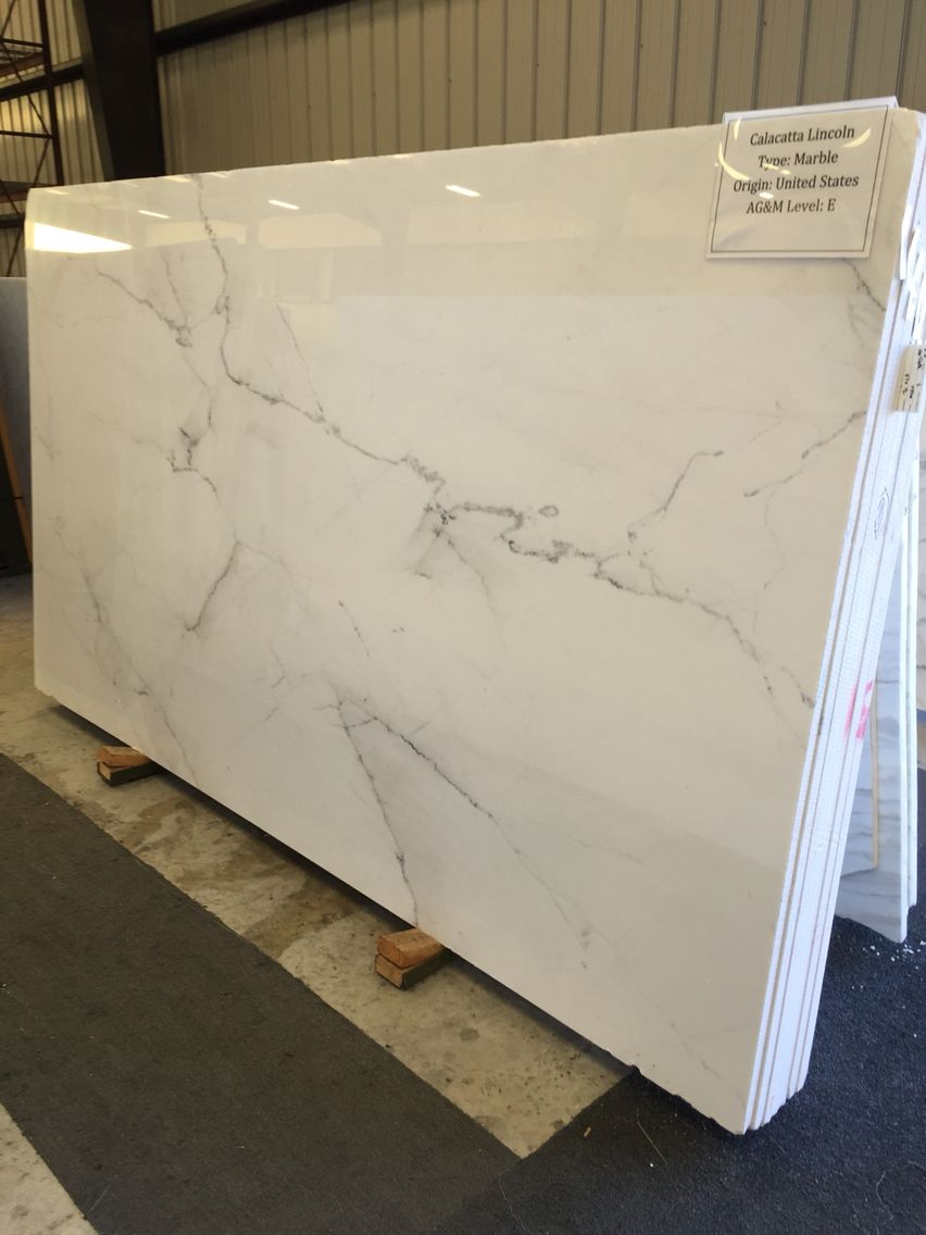 Calacatta Lincoln Marble Quartz Kitchen Countertops White