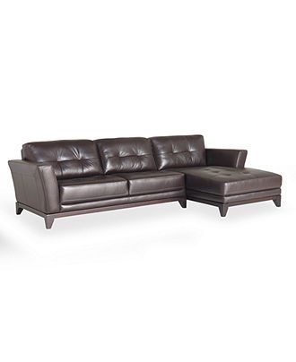 Stefano Leather Sectional Sofa, 2 Piece Chaise - Sheets - Bed & Bath - Macy's. Going in the new home.