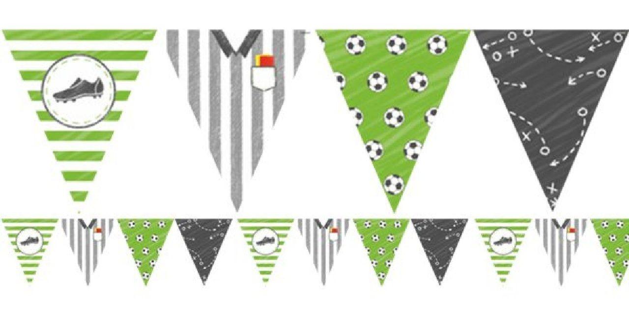 Football party flag banner cumples tematicos cumple