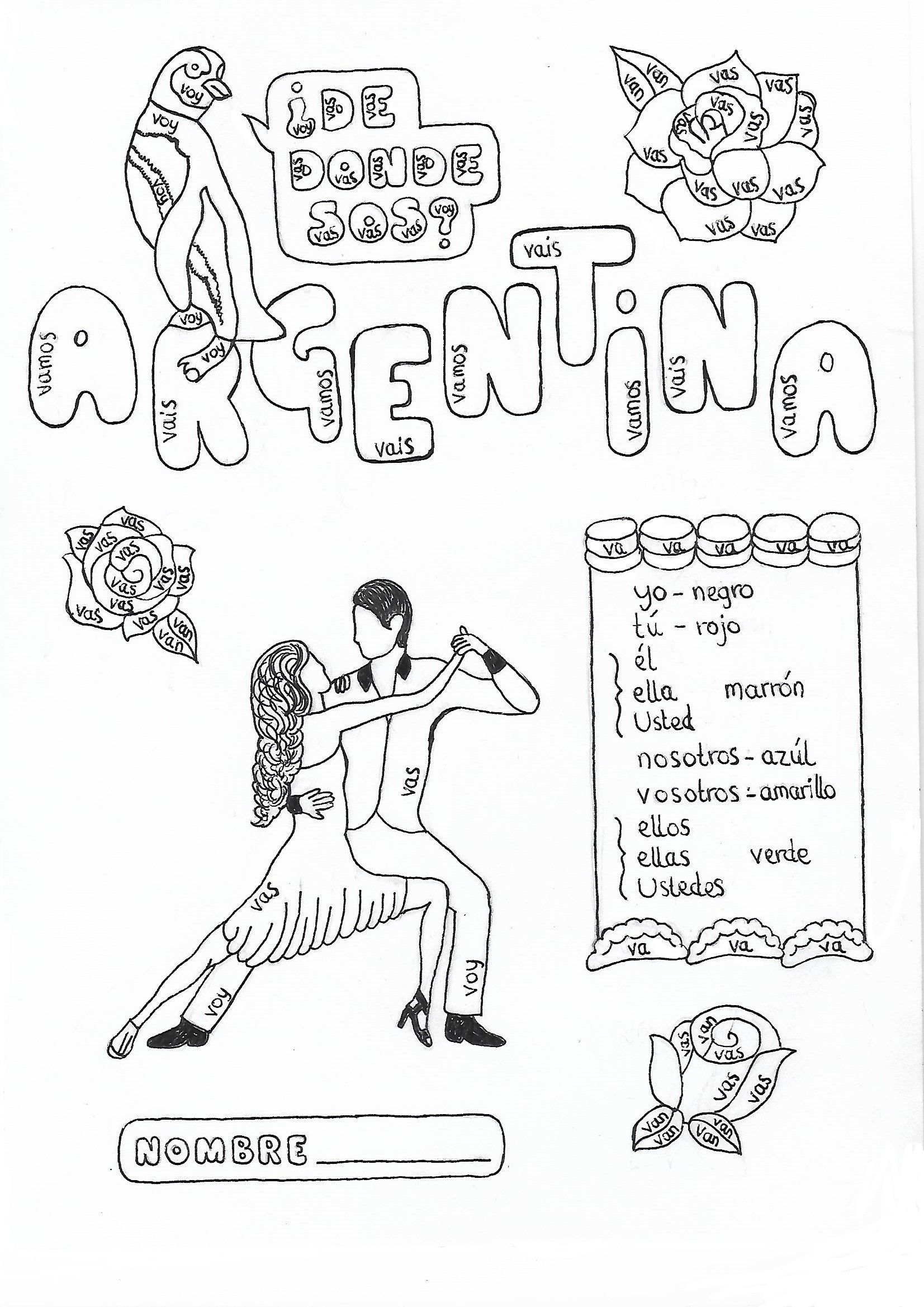 Spanish Ir To Go Color By Conjugation Argentina No Prep
